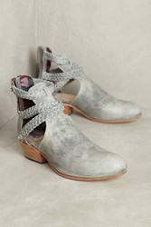 Anthropologie Uxibal Trenza Cutout Braided Booties Grey