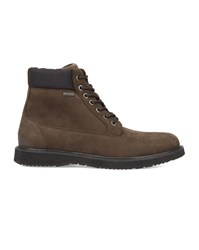 Swims Brown Leather And Nubuck Non Slip Sole Barry Work Boots