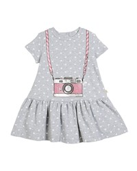Kate Spade Polka Dot Camera Dress Size 2 6X Gray