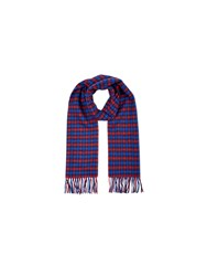 Aquascutum London Club Check Lambswool Scarf Red