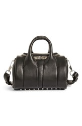 Alexander Wang Mini Rockie Nickel Leather Satchel Black
