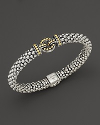 Lagos 18K Gold And Sterling Silver Enso Rope Bracelet Silver Yellow Gold