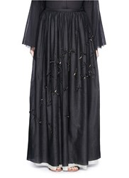 The Row 'Nava' Embellished Cotton Gauze Maxi Skirt Black