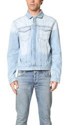Calvin Klein Jeans Destroyed Denim Jacket The Bleached Down
