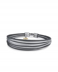 Alor Noir Multi Row Micro Cable Bangle Bracelet