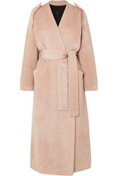 Petar Petrov Moscow Belted Alpaca And Wool Blend Coat Pink
