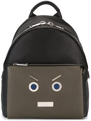 Fendi 'No Words' Backpack Blue