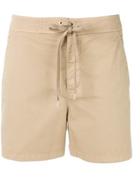 Red Valentino Lace Up Shorts Nude Neutrals