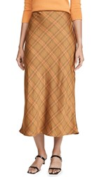 C Meo Collective No Time Skirt Copper Check