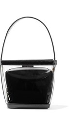 Staud Edie Pvc And Patent Leather Tote Black