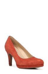 Naturalizer Women's 'Michelle' Almond Toe Pump Red Leather
