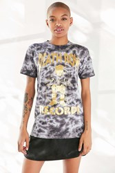 Urban Outfitters Death Row Records Gold Foil Tie Dye Tee Black Multi