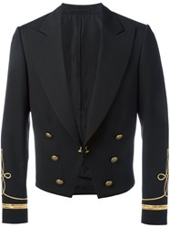Ports 1961 Double Breasted Peaked Lapels Blazer Black