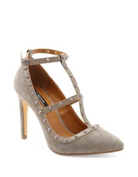Kensie Fizzia Suede Pumps Taupe