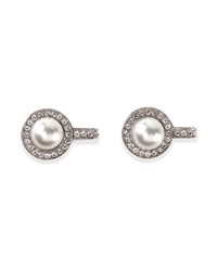 Balenciaga Small Pearl And Crystal Clip On Earrings