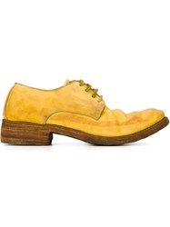 A Diciannoveventitre Stacked Heel Derby Shoes Yellow And Orange