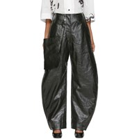 Christophe Lemaire Green Coated Chino Pants