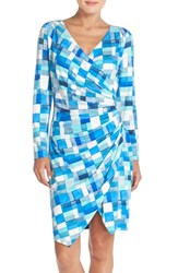 Women's Nydj 'Casey' Print Jersey Faux Wrap Dress