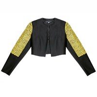 Carolina Ronderos Mola Waistcoat Jacket Black And Yellow