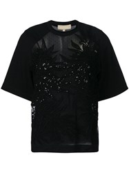 Elie Saab Sequined Top Black