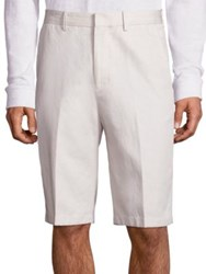 Vince Relaxed Fit Garment Washed Shorts Stone