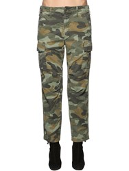 Mother The Sir Yes Sir Cotton And Linen Pants Army Green