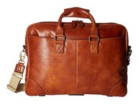 Bosca Dolce Collection Zip Top Brief Amber Briefcase Bags Bronze