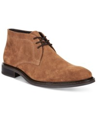 Alfani Men's Fulton Plain Toe Chukka Boots Only At Macy's Men's Shoes Tobacco