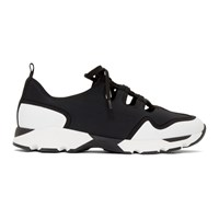 Marni Black And White Ghillie Sneakers