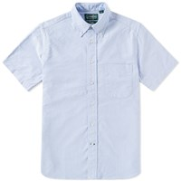 Gitman Brothers Vintage Short Sleeve Oxford Shirt Blue