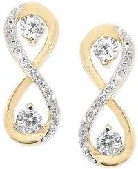Wrapped In Love Diamond Infinity Drop Earrings 1 3 Ct. T.W. In 14K Gold Yellow Gold