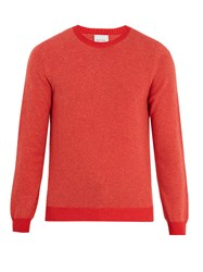 Paul Smith Crew Neck Wool Sweater Coral