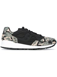 Saucony Camouflage Print Sneakers Black