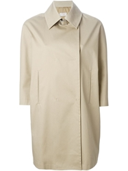Alberto Biani Double Breasted Raincoat Nude And Neutrals