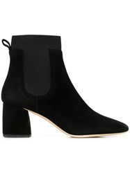 Gianna Meliani Square Toe Ankle Boots Black