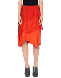 Cedric Charlier Cedric Charlier Skirts Knee Length Skirts Women Red