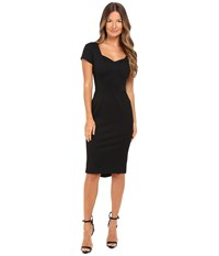 Zac Posen Bondage Jersey Cap Sleeve Dress Black