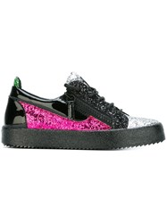 Giuseppe Zanotti Design 'Frankie' Low Top Glitter Sneakers Black