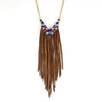 Astali Snake Glass And Chevron Necklace Deer Run