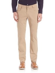 Faconnable Gabardine Stretch Pants Sand