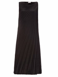 Raey Pleated Knot Shoulder Dress Black
