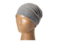 Cole Haan Cashmere Roll Cuff Slouchy Beanie Grey Heather Beanies Gray