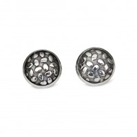 Isabel Englebert Pebble Silver Cufflinks