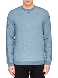 Ted Baker Spanyal Cable Knit Trim Sweatshirt Mid Blue