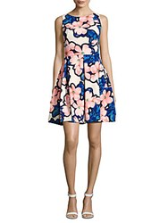 Taylor Floral Fit And Flare Dress Lapis