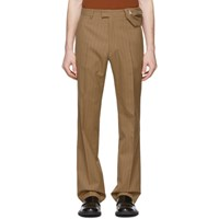 Dries Van Noten Brown And Red Prowse Trousers
