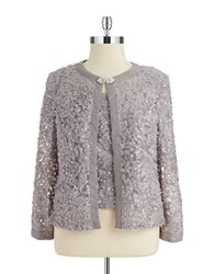 Cachet 2 Piece Sequin Bolero And Shell Set Grey
