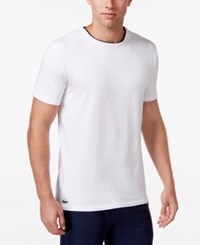 Lacoste Men's Stretch Sleep T Shirt White