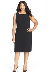 Plus Size Women's Louben Sleeveless Suiting Sheath Dress