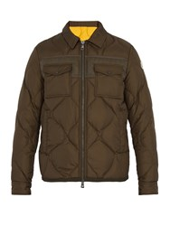 Moncler Stephan Point Collar Down Coat Dark Khaki